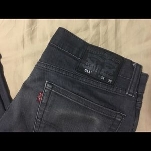 Charcoal Levi Slim Straight leg Jeans